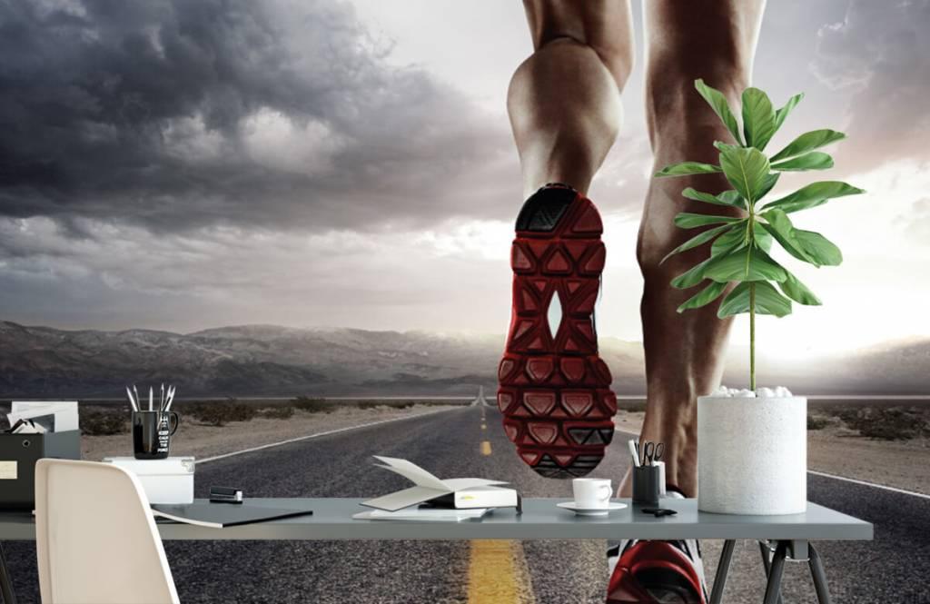 Fotobehang Benen van een renner