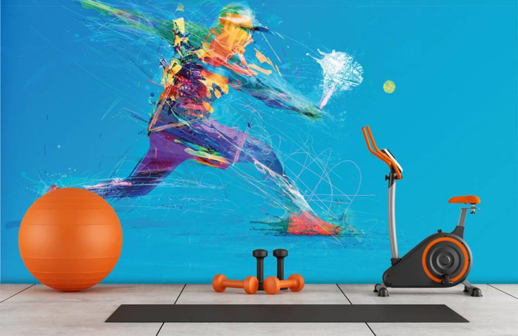 Overige - Geïllustreerde tennisser  - Hobbykamer 1