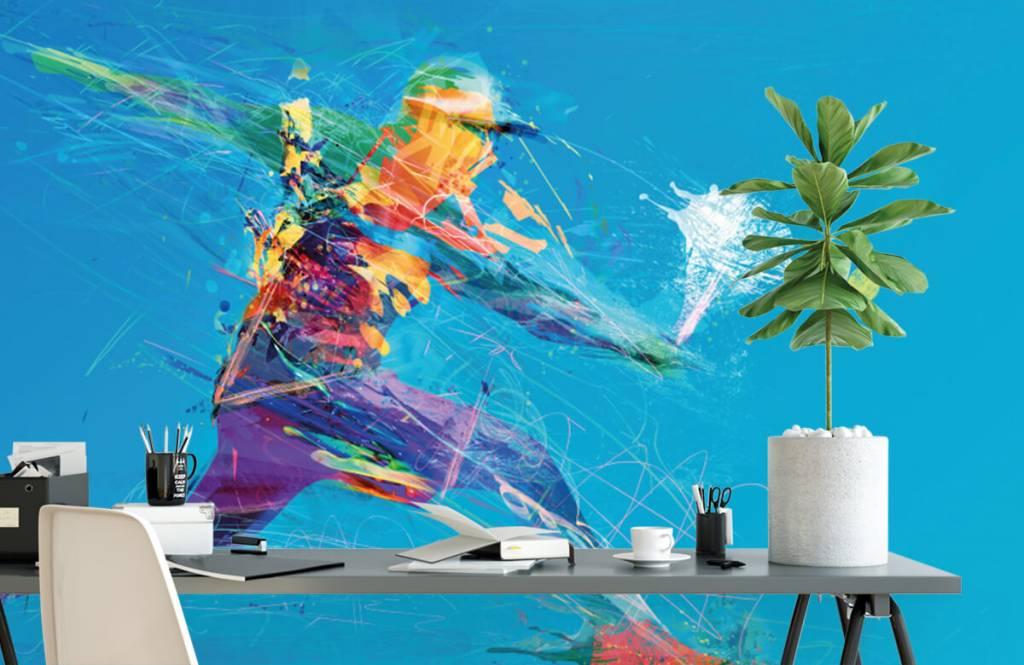 Overige - Geïllustreerde tennisser  - Hobbykamer 2