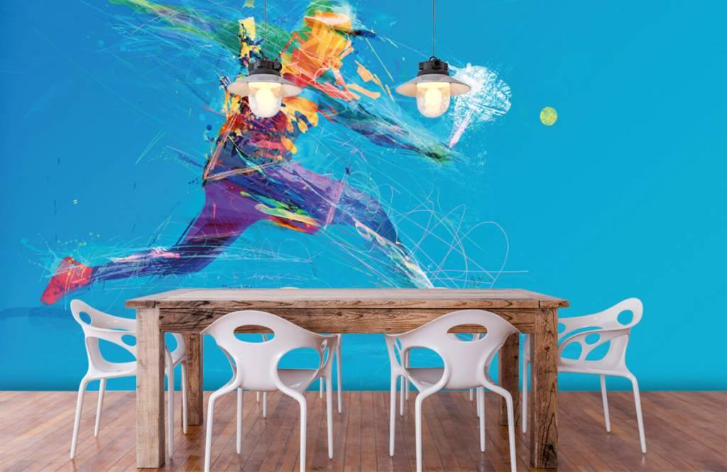 Overige - Geïllustreerde tennisser  - Hobbykamer 7