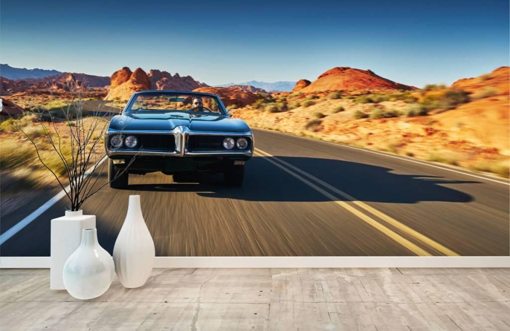 Transport - Muscle car in een Amerikaans landschap - Tienerkamer 6