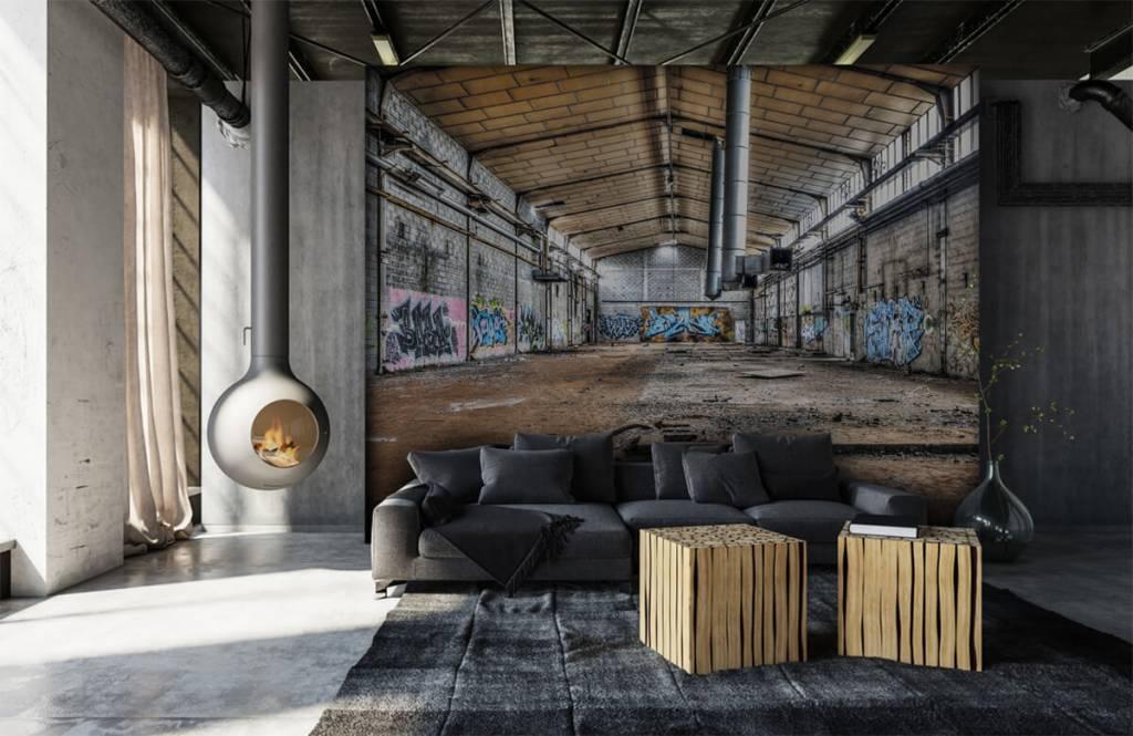 Gebouwen - Oude verlaten fabriekshal - Tienerkamer 1