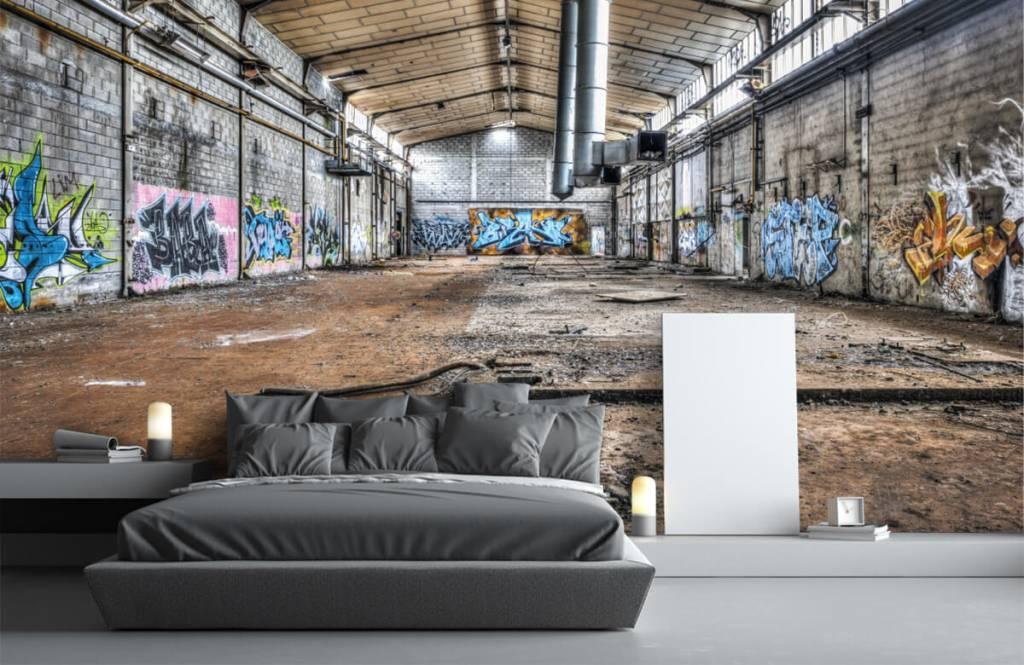 Gebouwen - Oude verlaten fabriekshal - Tienerkamer 3