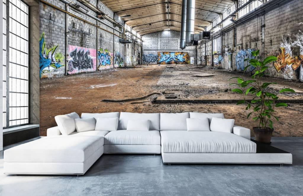 Gebouwen - Oude verlaten fabriekshal - Tienerkamer 6