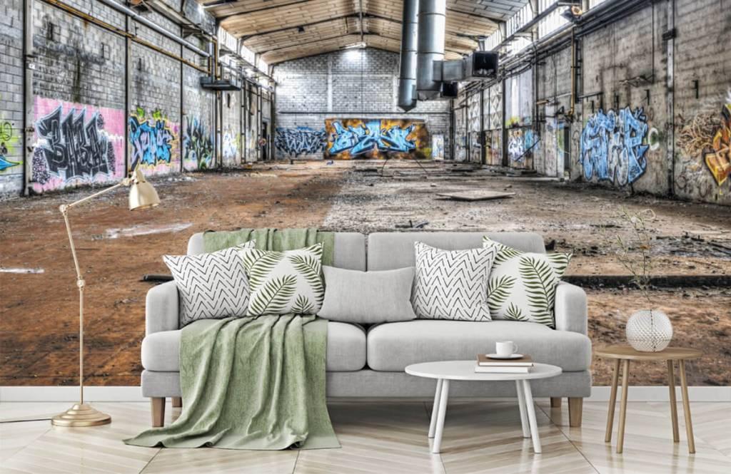 Gebouwen - Oude verlaten fabriekshal - Tienerkamer 7