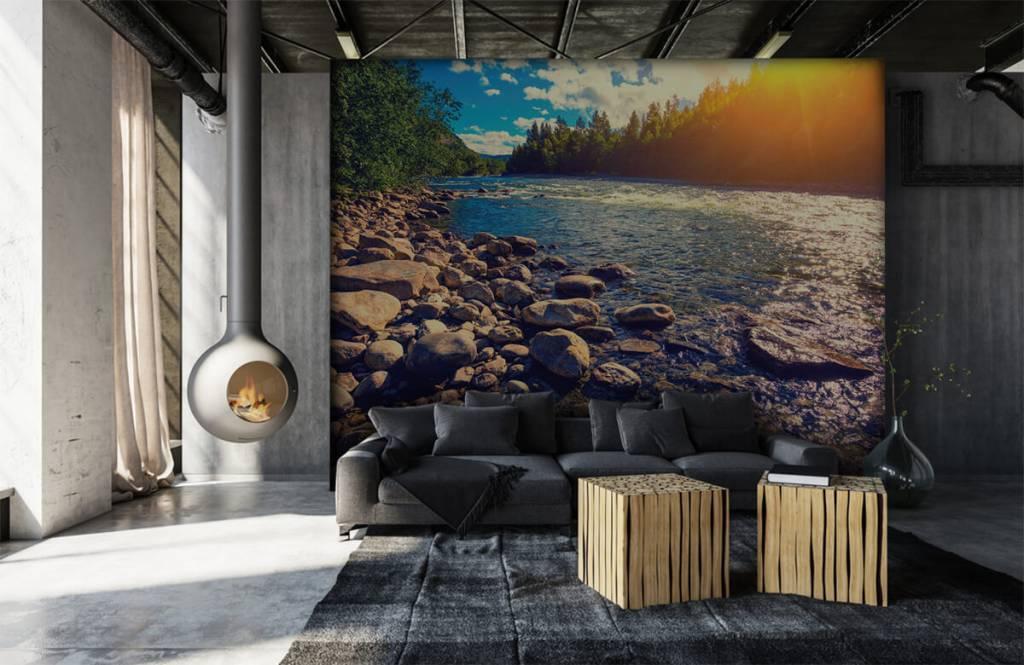 Landschap - Rotsachtige rivier - Slaapkamer 3