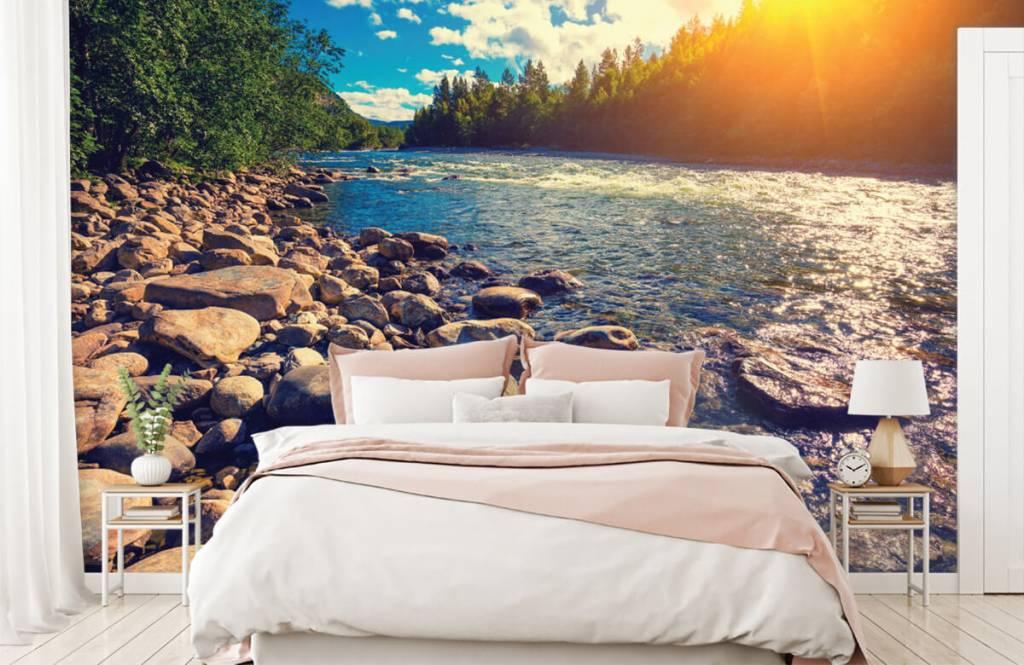 Landschap - Rotsachtige rivier - Slaapkamer 6
