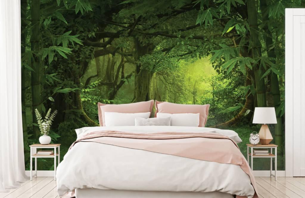 Bomen - Tropische jungle - Slaapkamer 1