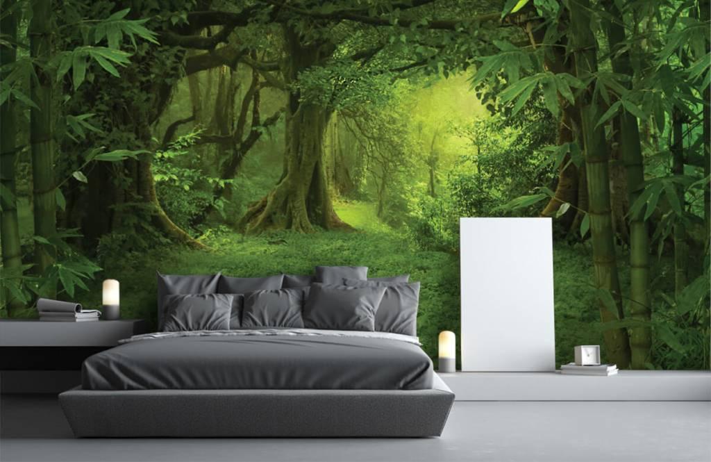 Bomen - Tropische jungle - Slaapkamer 2