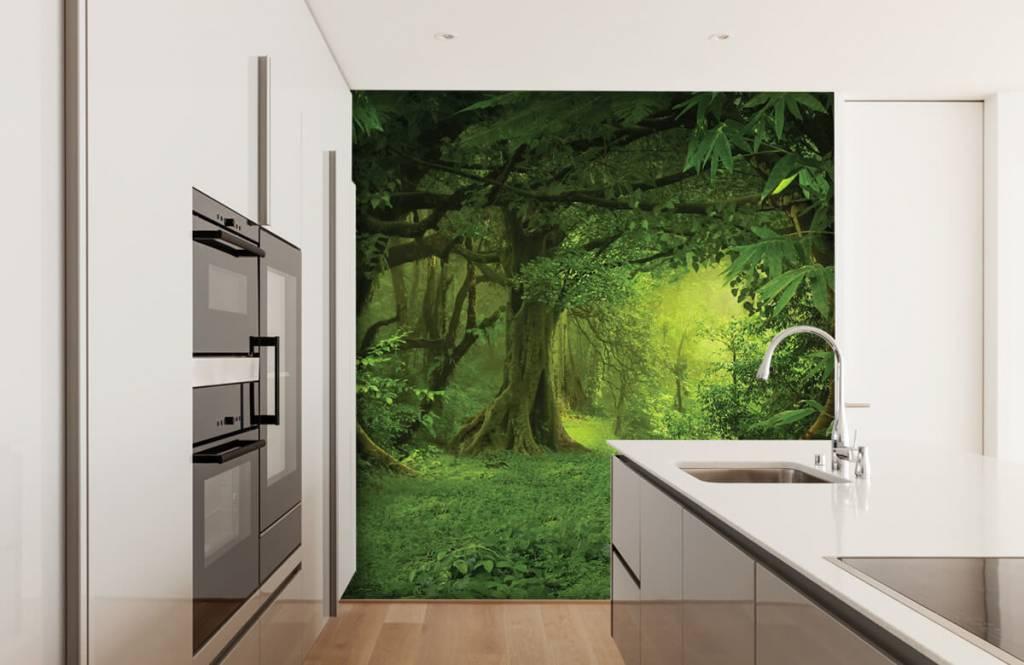 Bomen - Tropische jungle - Slaapkamer 3