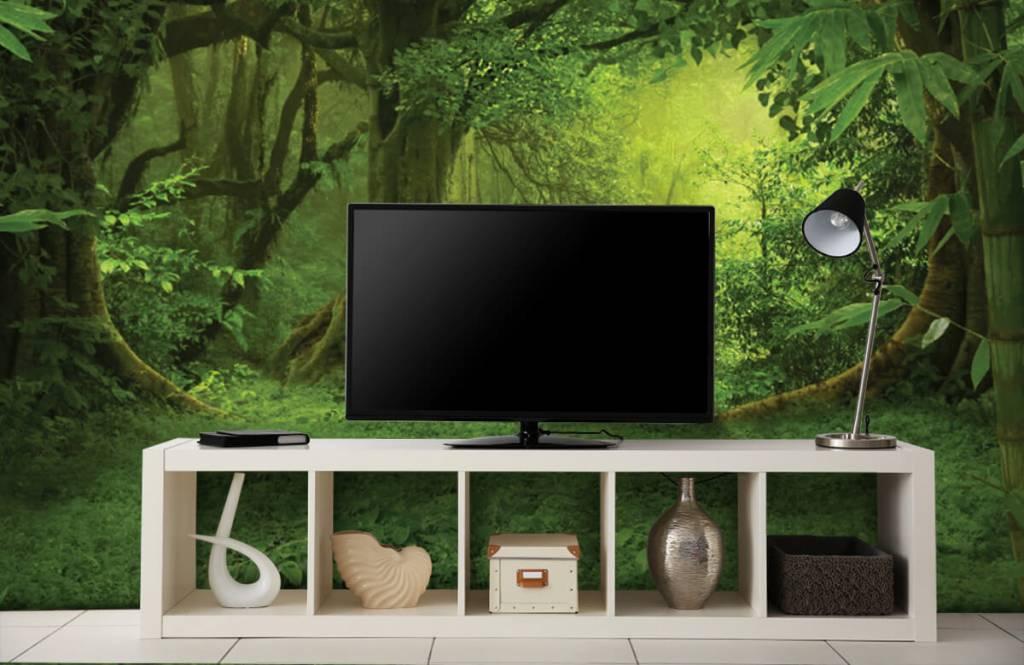 Bomen - Tropische jungle - Slaapkamer 4
