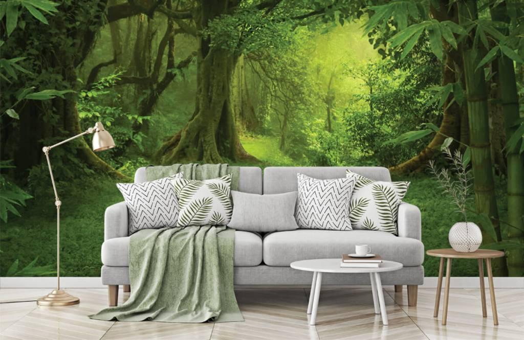 Bomen - Tropische jungle - Slaapkamer 7