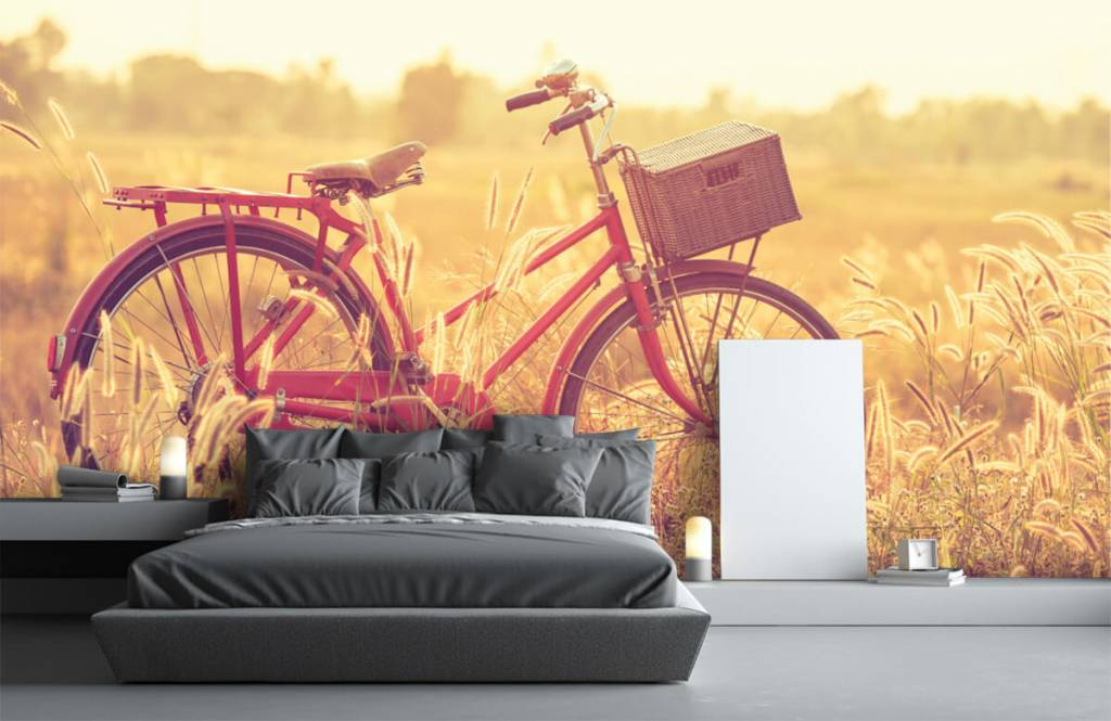 Landschap - Vintage fiets - Slaapkamer 2