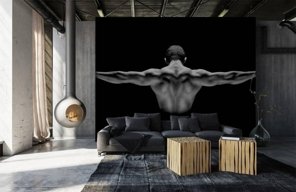 Fitness - Man met gestrekte armen - Garage 1
