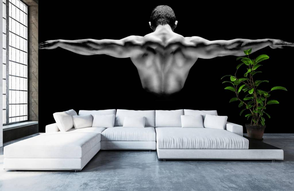 Fitness - Man met gestrekte armen - Garage 4