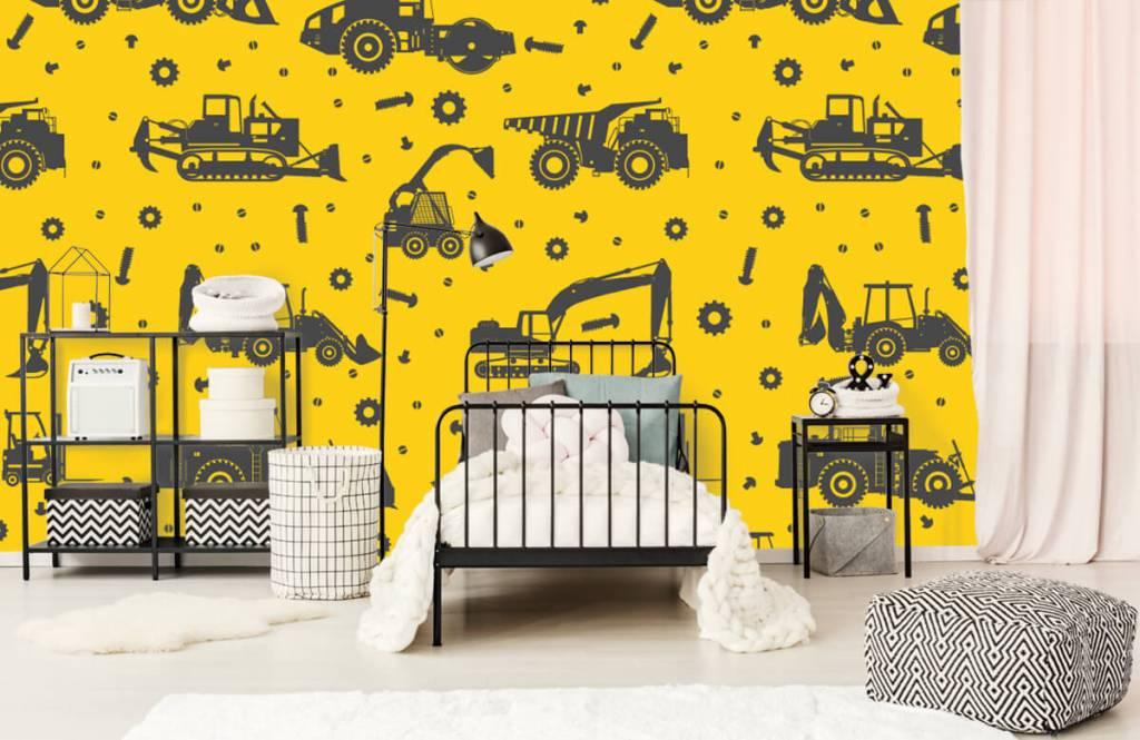 Jongensbehang - Bouwverkeer geel - Kinderkamer 2