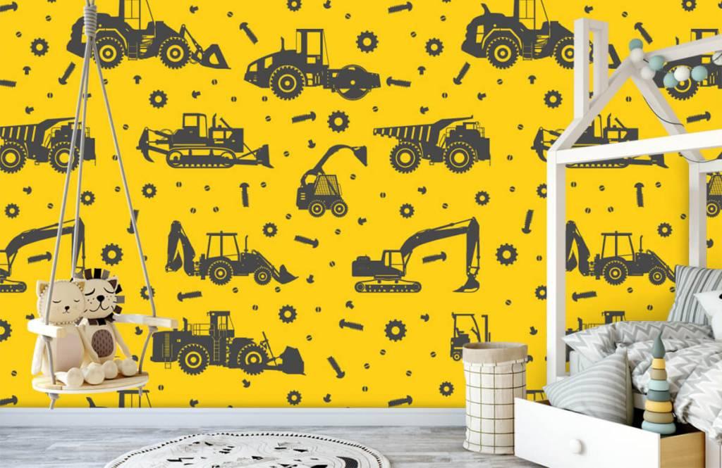 Jongensbehang - Bouwverkeer geel - Kinderkamer 4