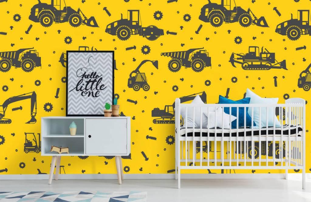 Jongensbehang - Bouwverkeer geel - Kinderkamer 6