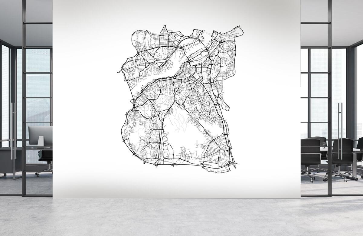 Kaarten - Plattegrond van Gotenburg, wit - Kantine 3