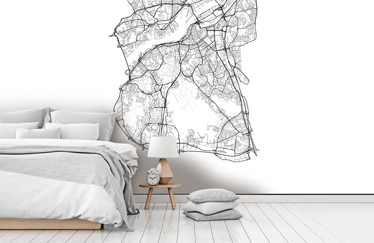 Kaarten - Plattegrond van Gotenburg, wit - Kantine 7