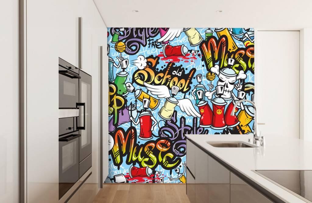 Kinderbehang - Verschillende muziekstijlen - Kinderkamer 4