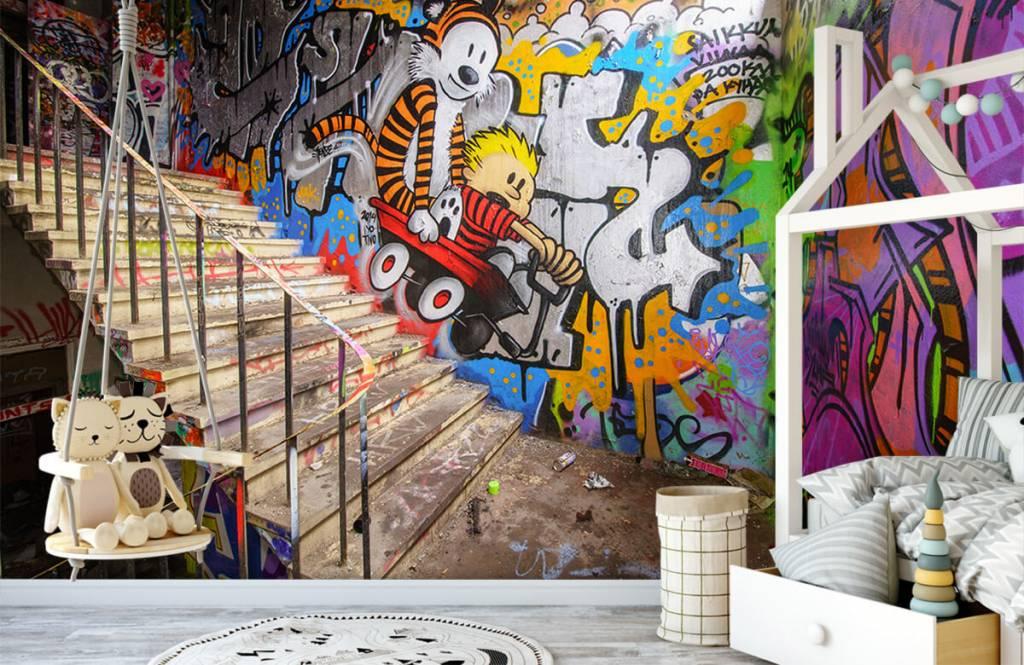 Graffiti - Graffiti met trap - Tienerkamer 1