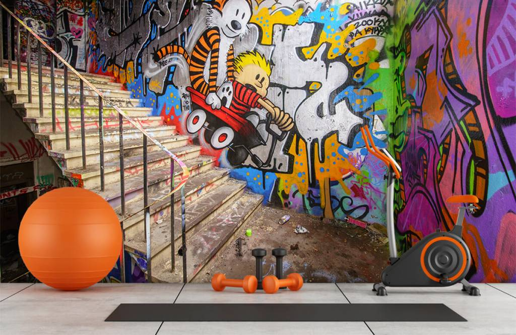 Graffiti - Graffiti met trap - Tienerkamer 3