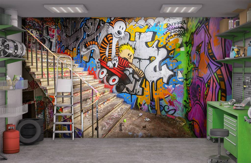 Graffiti - Graffiti met trap - Tienerkamer 4