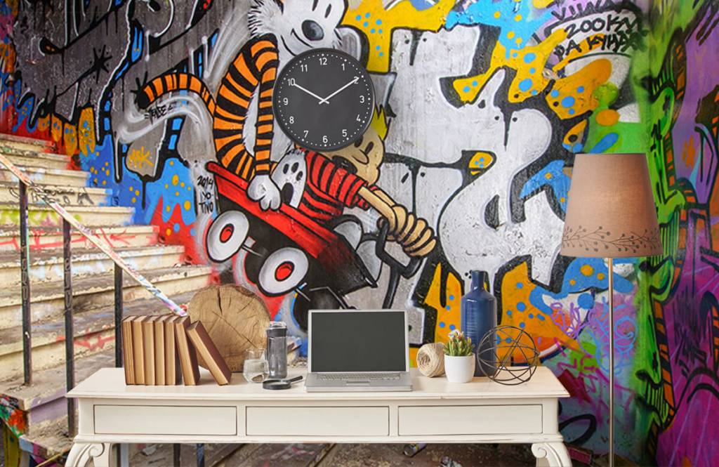 Graffiti - Graffiti met trap - Tienerkamer 5