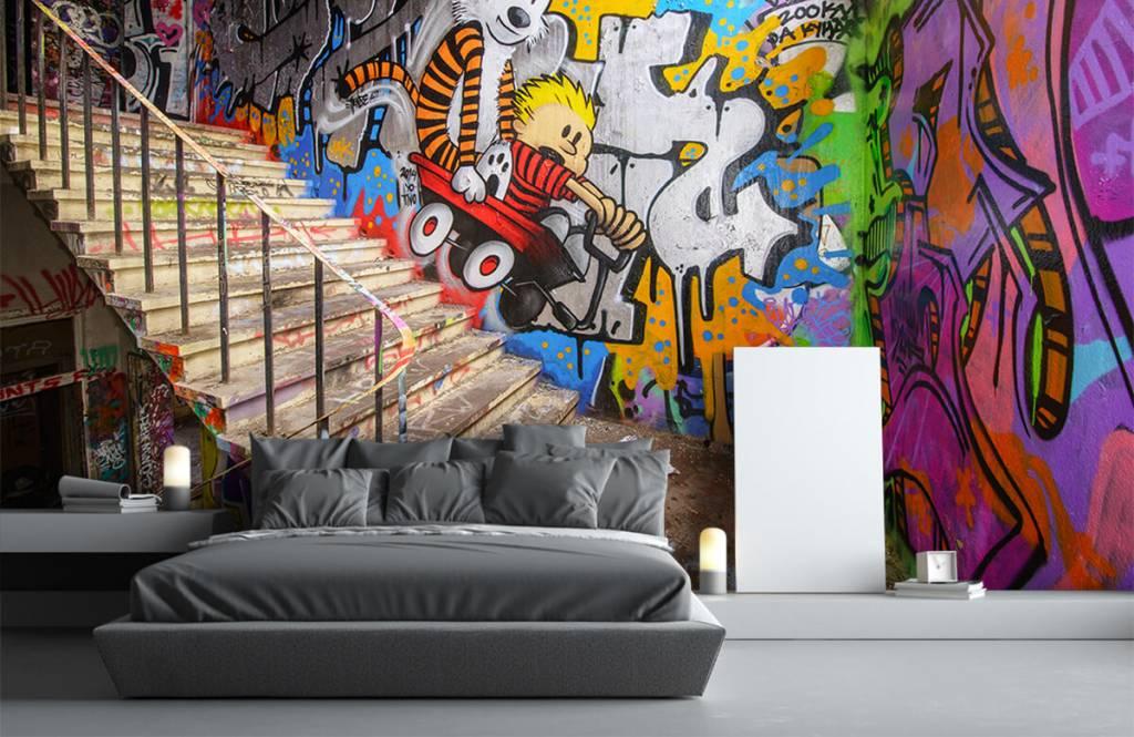 Graffiti - Graffiti met trap - Tienerkamer 6