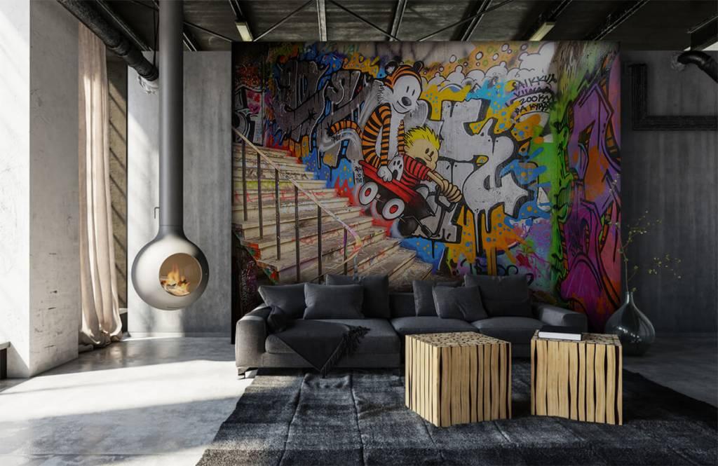 Graffiti - Graffiti met trap - Tienerkamer 7