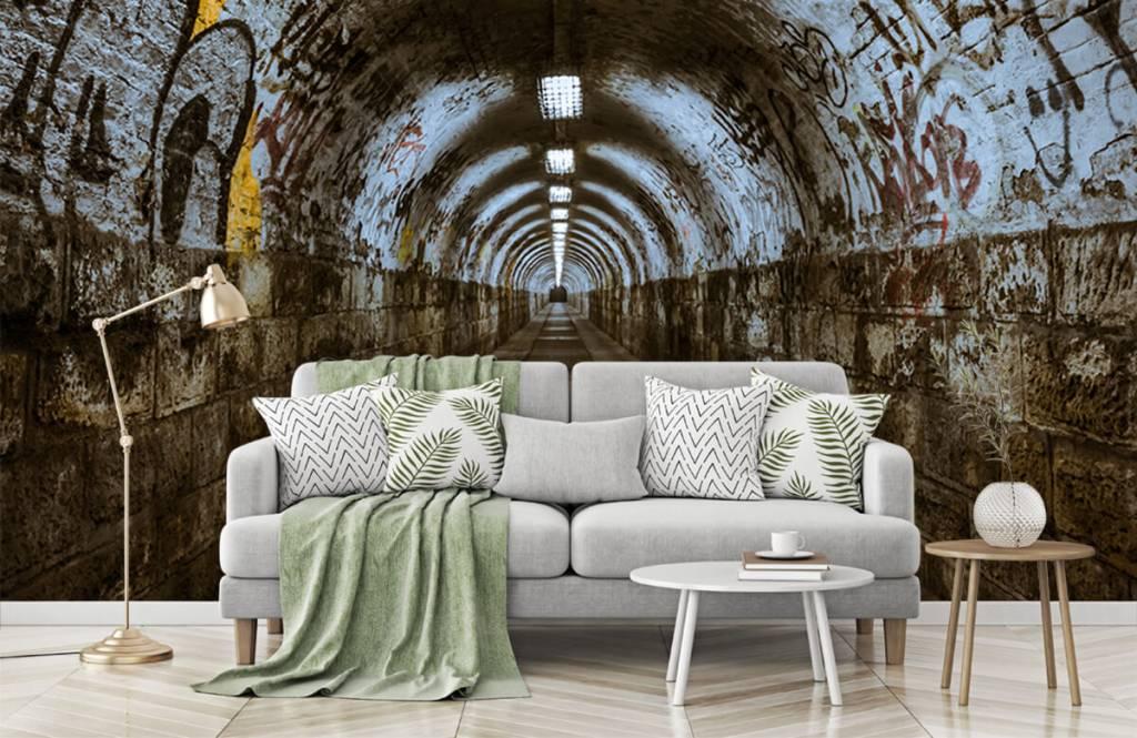 Overige - Graffiti tunnel 3D - Tienerkamer 1