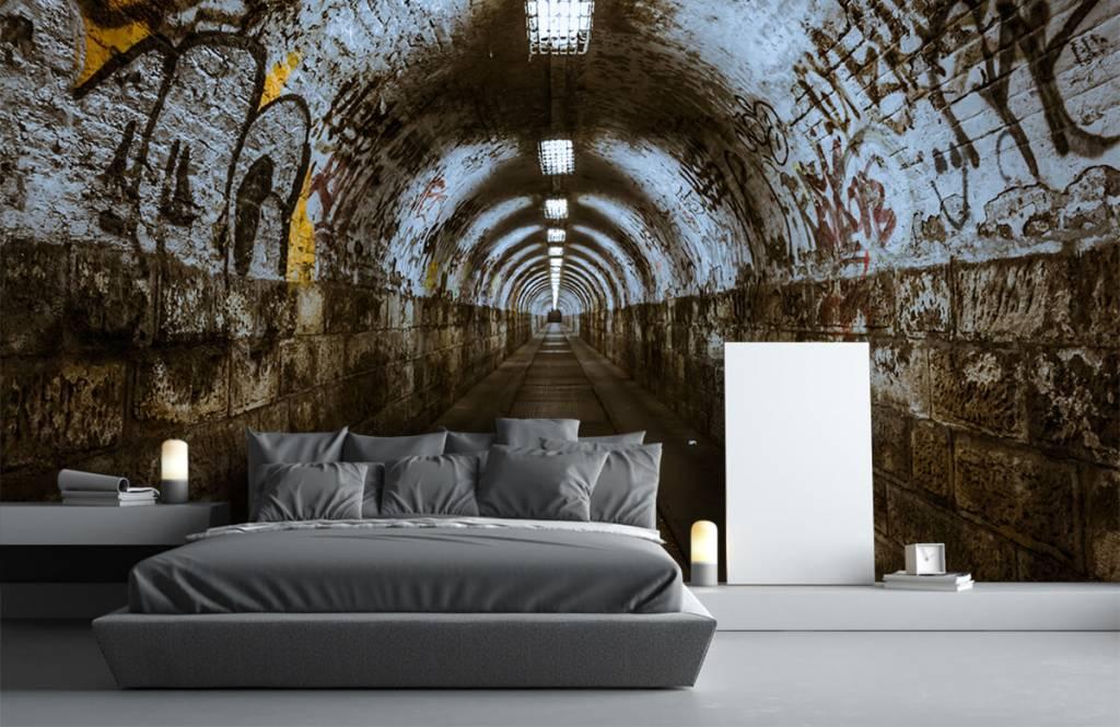 Overige - Graffiti tunnel 3D - Tienerkamer 2