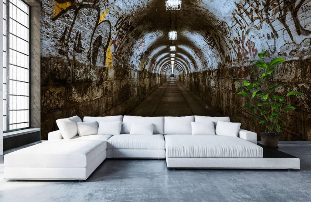 Overige - Graffiti tunnel 3D - Tienerkamer 3