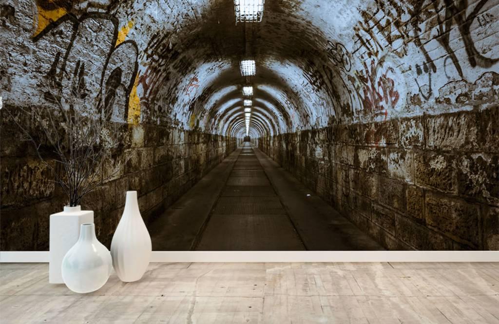 Overige - Graffiti tunnel 3D - Tienerkamer 4