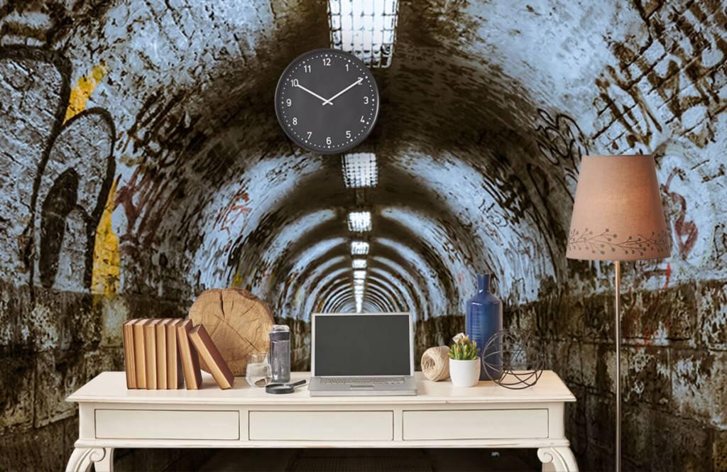 Overige - Graffiti tunnel 3D - Tienerkamer 5