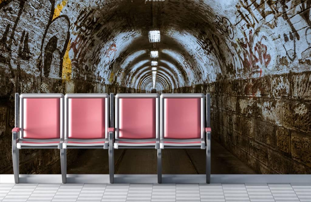 Overige - Graffiti tunnel 3D - Tienerkamer 7