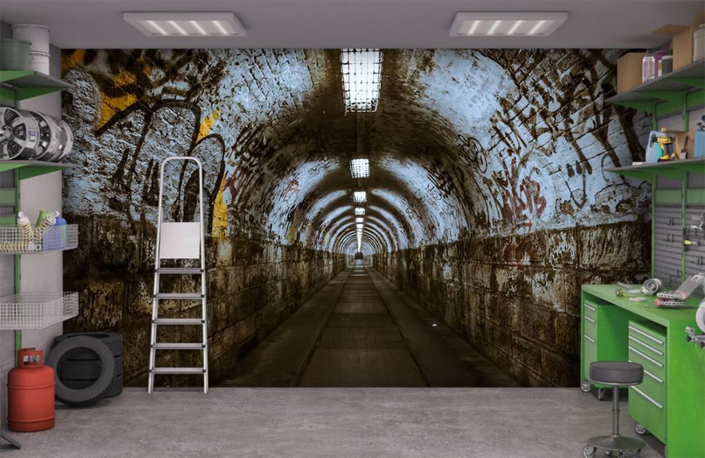 Overige - Graffiti tunnel 3D - Tienerkamer 8