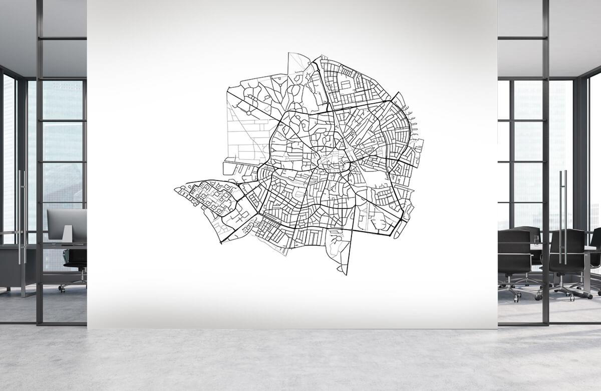 Kaarten - Plattegrond van Hilversum, wit - Showroom 3