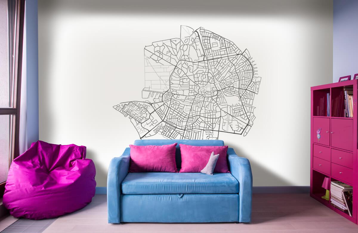 Kaarten - Plattegrond van Hilversum, wit - Showroom 10