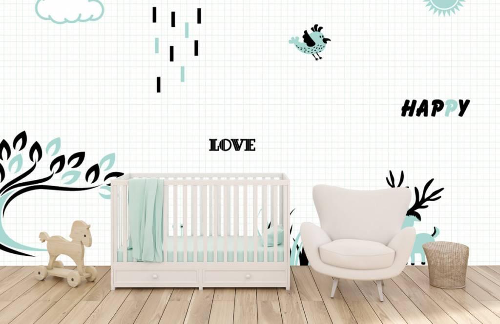 Baby Behang Boom.Hip Behang Voor De Babykamer Fotobehang