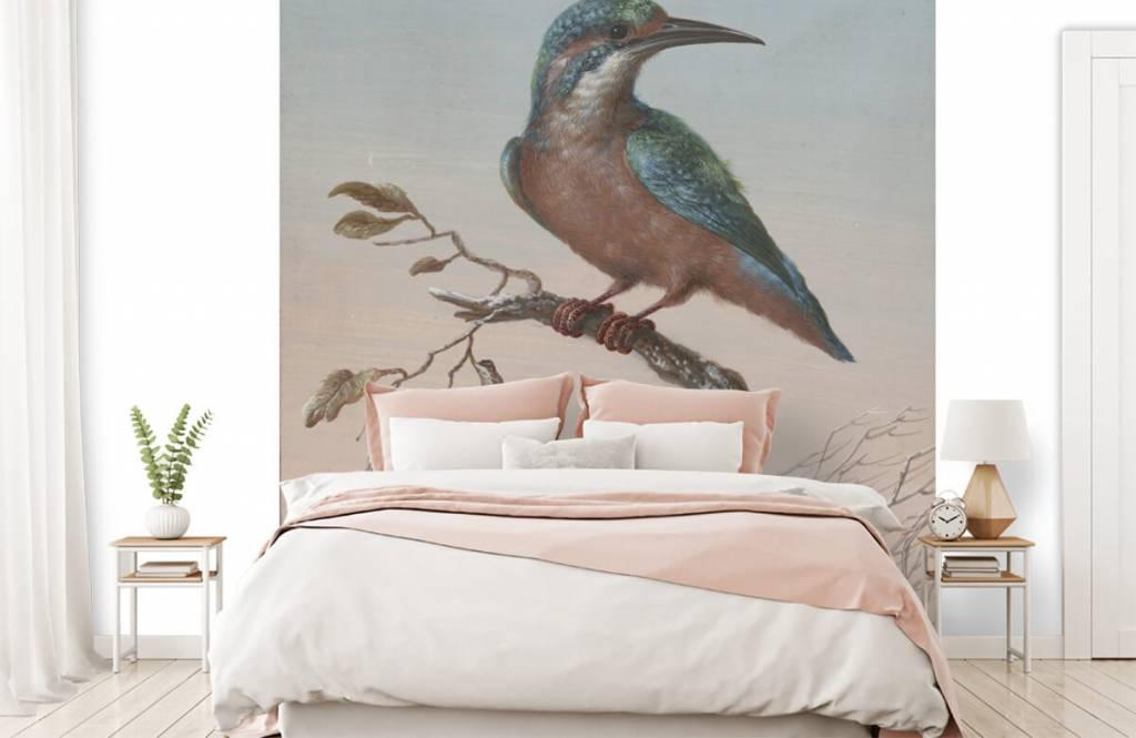 Vogel behang - IJsvogel schilderij - Keuken 2