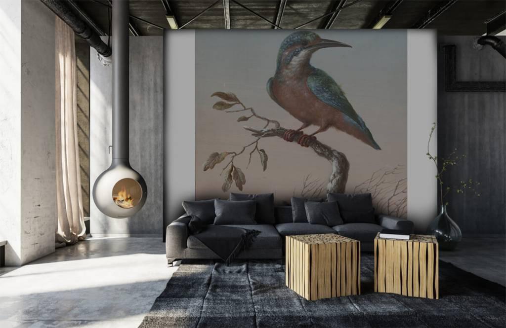 Vogel behang - IJsvogel schilderij - Keuken 3