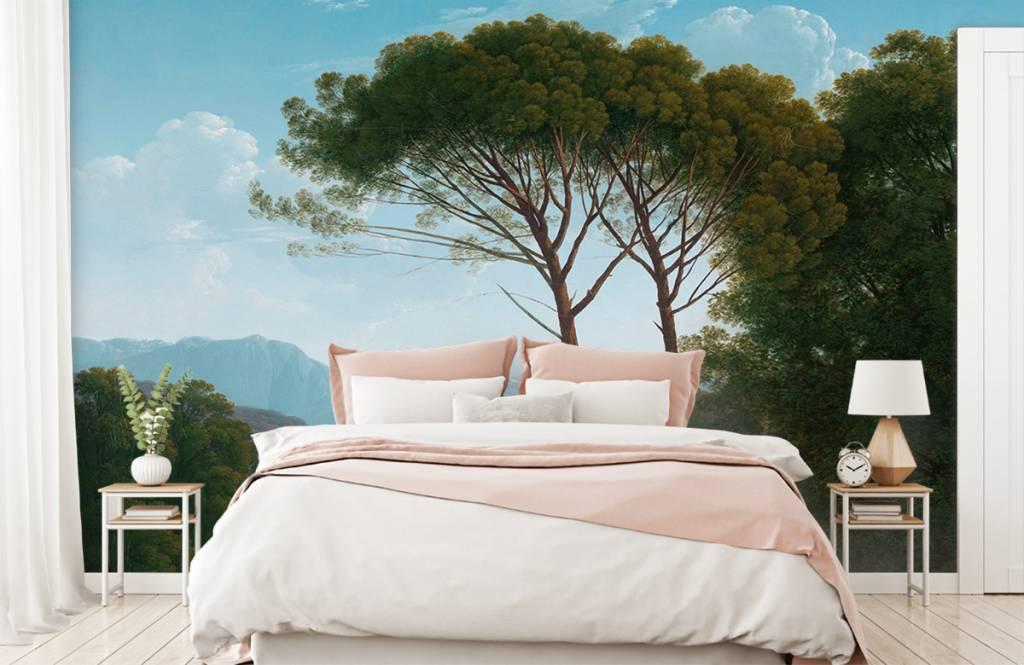 Landschap - Italiaans landschap met pijnbomen - Slaapkamer 2
