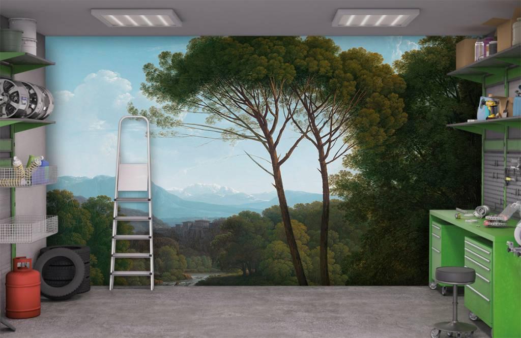 Landschap - Italiaans landschap met pijnbomen - Slaapkamer 4