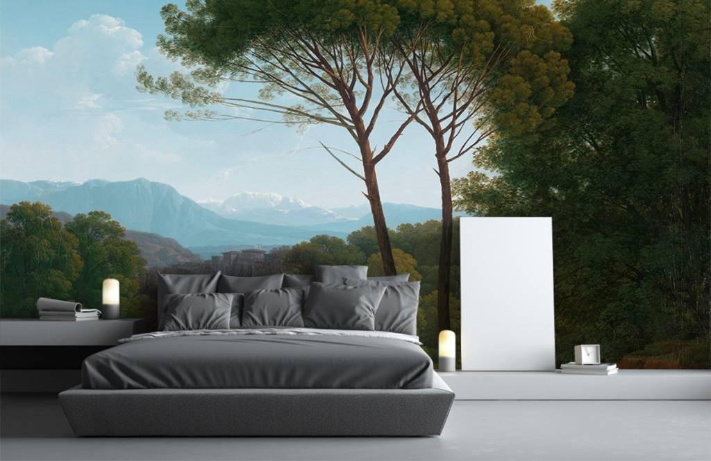 Landschap - Italiaans landschap met pijnbomen - Slaapkamer 8