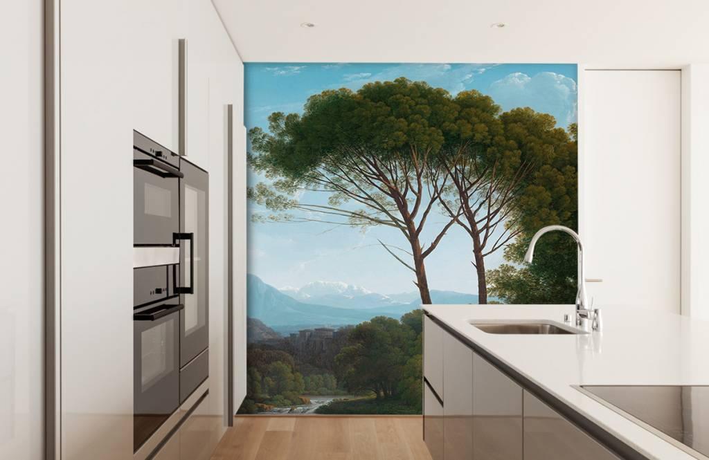 Landschap - Italiaans landschap met pijnbomen - Slaapkamer 9