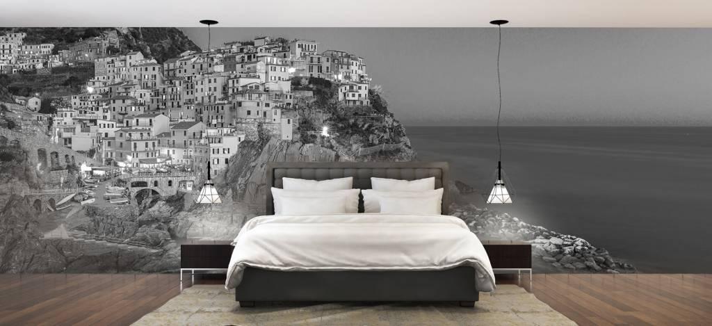 Steden behang - Italiaanse stad bij nacht - Slaapkamer 3