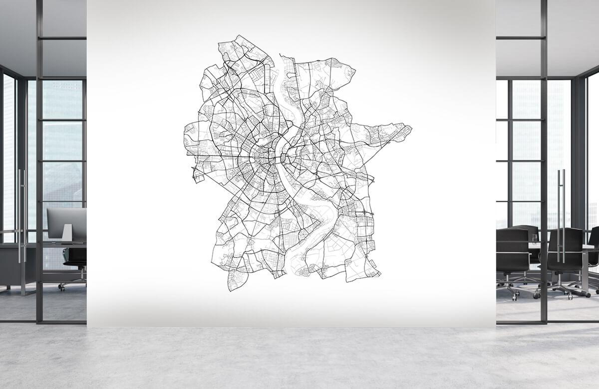Kaarten - Plattegrond van Keulen, wit - Showroom 3