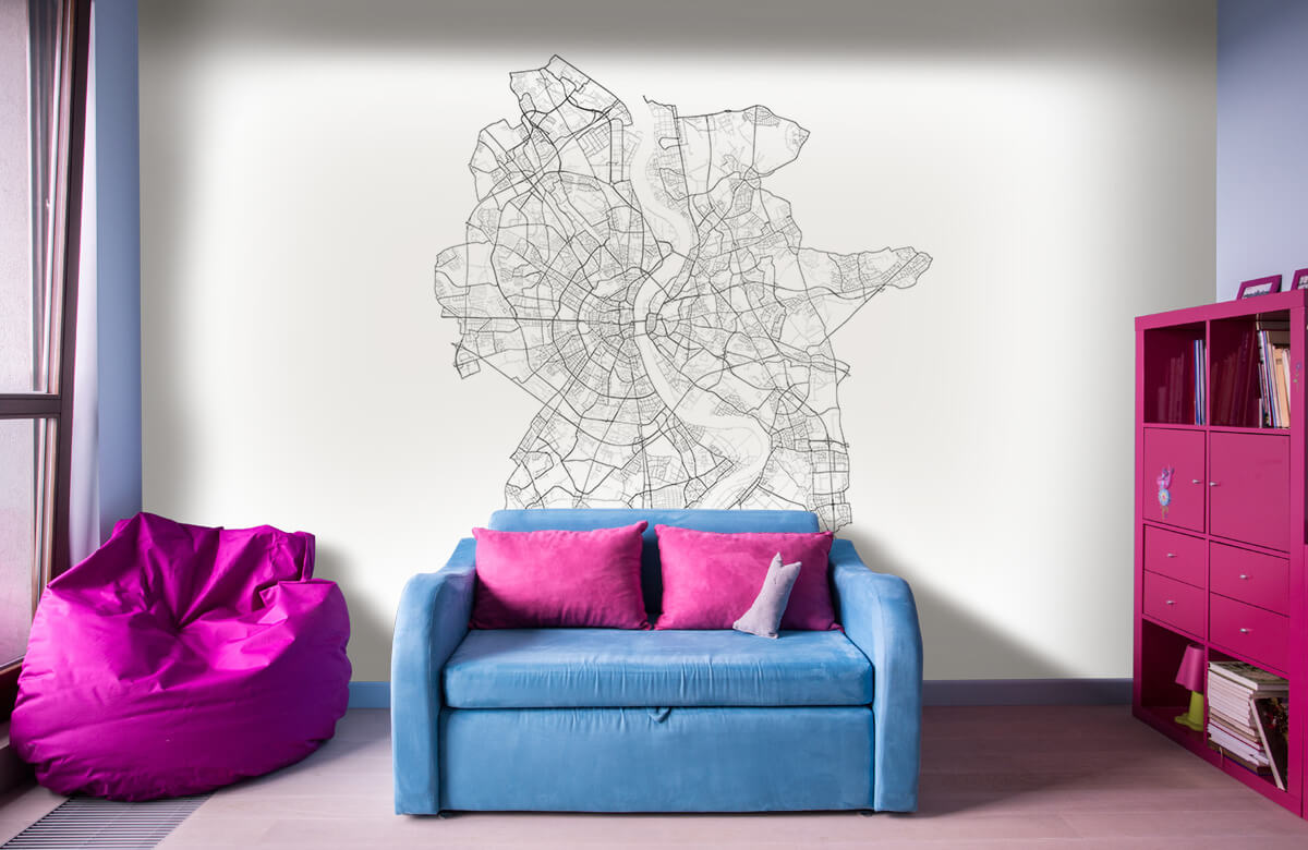 Kaarten - Plattegrond van Keulen, wit - Showroom 10